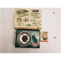 COLEMAN PICNIC STOVE ( MODEL 5411) *C/W BOX & INSTRUCTIONS*