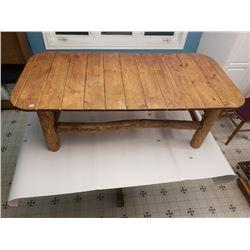 """HANDMADE LOG COFFEE TABLE (61"""" L, 29"""" W, 20"""" T)"""