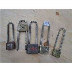 VINTAGE LOCKS (LOT OF 5) *NO KEYS*