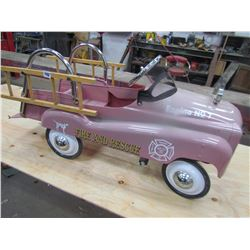 PEDAL CAR (FIRE & RESCUE) *W/LADDERS, ENG #7, INSTEP* (1990s REPRO)