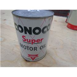 OIL TIN (CONOCO SUPER MOTOR OIL) *1 QT* (FULL)