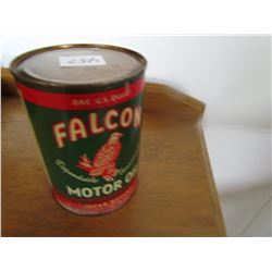 MOTOR OIL TIN (FALCON) *1 QUART USA*