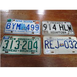 LOT OF 4 PLATES (PROVINCIAL)