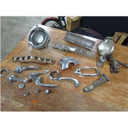 LOT OF AUTO, TRACTOR ETC… (PARTS, EMBLEMS ETC…)