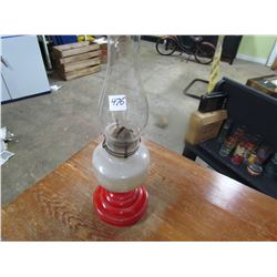 COAL OIL LAMP #2 (RED & WHITE)