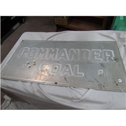 "TIN SIGN (COMMANDER COAL COMPANY) *NACMINE, AB* (18"" X 36"")"
