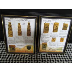 "LOT OF 2 DISPLAY ADS (BUFFALO OILS) *9.5"" X 12""* (NOT OLD, BUT NICE)"