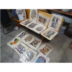 LOT OF 16 EGYPTION PAINTING (ON PAPYRUS PAPER) *COPIES*