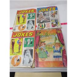 "LOT OF 4 MAGAZINES (3 POPULAR JOKES, 1 DUNCHIN JUDY ""SEX TO SEXTY"")"