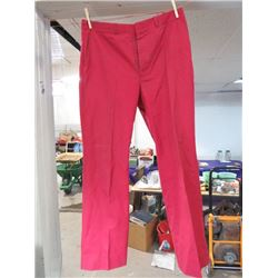 "MENS SLACKS (TIP TOP) *RED* (W 36"" L 30"")"