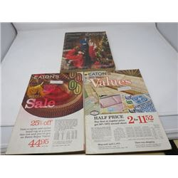 LOT OF 3 CATALOUGS (EATON'S) *WINTER SALE 1970, WINTER VALUE 1975 CHRISTMAS 1975)