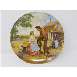 "DECORATOR PLATE (BRADFORD EXCHANGE) ""OH, WHAT A BEAUTIFUL MORNIN'"" *W/CERTIFICATE OF AUTHENTICITY*"