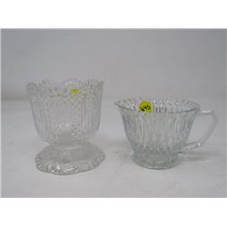 LOT OF 2 (CREAMER & AVON CANDY DISH)