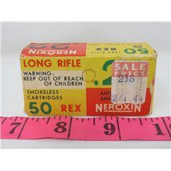 AMMUNITION (NEROXIN) 22 LONG RANGE *SMOKELESS* (QTY 50)