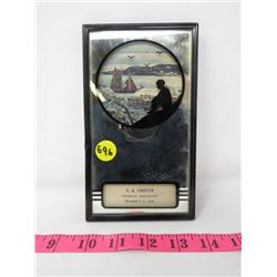 SILLOUETTE ADVERTISING MIRROR (F.A. GRISTON) *SMALL DAMAGE ON FRAME*