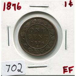 1876 CNDN LARGE 1 CENT PC