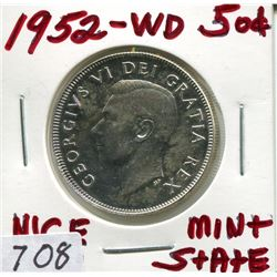 1952 CNDN 50 CENT PC (SILVER) *WD*