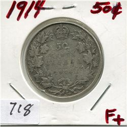 1914 CNDN 50 CENT PC (SILVER)