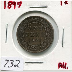 1897 CNDN LARGE 1 CENT PC