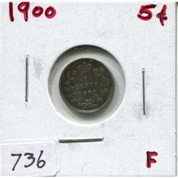 1900 CNDN 5 CENT PC (SILVER)