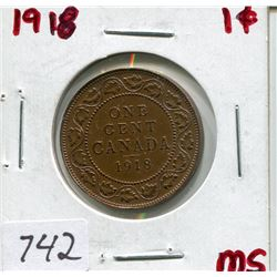 1818 CNDN LARGE 1 CENT PC