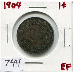 1904 CNDN LARGE 1 CENT PC