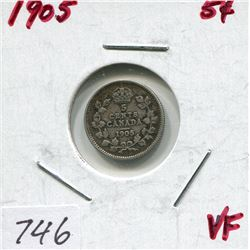 1905 CNDN 5 CENT PC (SILVER)