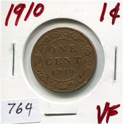 1910 CNDN LARGE 1 CENT PC