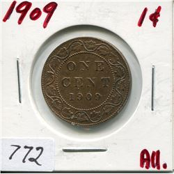 1909 CNDN LARGE 1 CENT PC