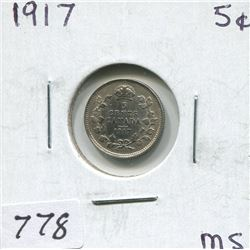 1917 CNDN 5 CENT PC (SILVER)