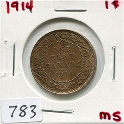 1914 CNDN LARGE 1 CENT PC