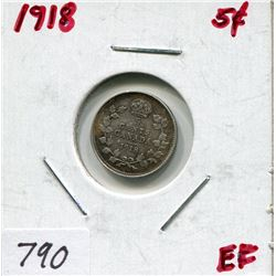 1918 CNDN 5 CENT PC (SILVER)