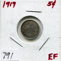 1919 CNDN 5 CENT PC (SILVER)