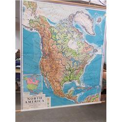 SCHOOL WALL MAP 'NORTH AMERICA'