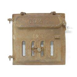 "WOOD STOVE DOOR (CAST IRON; 6924 IXL; 11"" X 11"")"