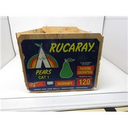 WOODEN BOX (RUCARAY PEARS)