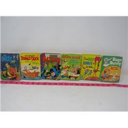 LOT OF 6 MINI BOOKS (DONALD DUCK, MICKY MOUSE, BATMAN, ETC)