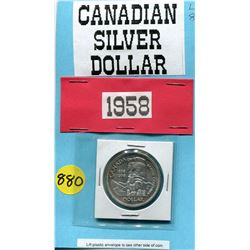 1958 SILVER DOLLAR (CNDN) *VERY POPULAR TOTEM POLE* (COMMEMORATIVE)