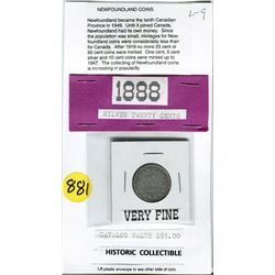 1888 TWENTY CENT PC (NEWFOUNDLAND) *CATALOG VALUE $85)