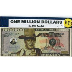 TOKEN (ONE MILLION DOLLARS) *JOHN WAYNE*
