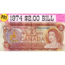 1974 CNDN 2 DOLLAR BANKNOTE