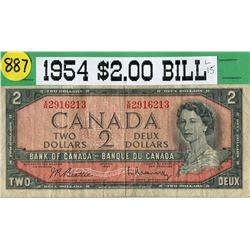 1954 CNDN $2 BANKNOTE