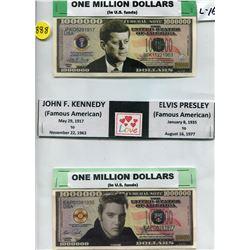 TOKENS (ONE MILLION DOLLARS) *JOHN F. KENNEDY & ELVIS PRESLEY*