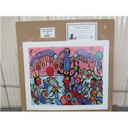 "LIMITED PRINT 'BETWEEN TWO WORLDS' (BY NORVAL MORRISSEAU) *304/950* (23"" X 18.5"")"
