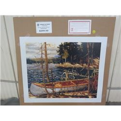 "LIMITED PRINT 'THE CANOE' (BY TOM THOMSON) *279/777* (23"" X 18.5"")"