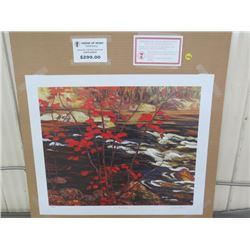 "LIMITED PRINT 'THE RED MAPLE' (BY AY JACKSON) *432/777* (23"" X 18.5"")"