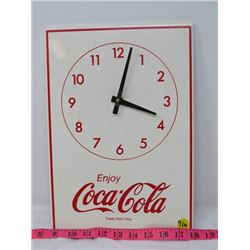 COCA-COLA CLOCK *BATTERY OPERATED* (13 X 9.5)