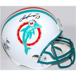 Dan Marino  Mark Clayton Signed Dolphins Full-Size Authentic Pro-Line Helmet (Radtke COA)