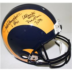 Jack Youngblood Signed Rams Full-Size Authentic Pro-Line Helmet With (3) Inscriptions Limited Editio