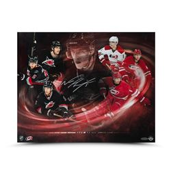 "Noah Hanifin Signed Hurricanes ""The Hurricane"" 16x20 Photo (UDA COA)"
